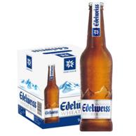 奥地利进口: 爱德维斯 高端白啤 经典旋盖开瓶 330mlx9瓶x3件