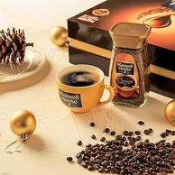 英国原瓶进口!麦斯威尔 速溶黑咖啡金咖啡礼盒 2瓶x100g
