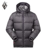90%灰鸭绒+650蓬松+260g充绒!BLACK ICE 黑冰 F8905 男款连帽羽绒服