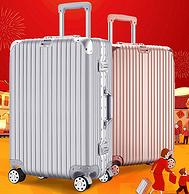 航空铝合金拉杆+铝框!卡帝乐鳄鱼 旅行箱 拉杆行李箱