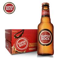 葡萄牙原瓶进口!3件x24瓶x250ml Superbock 超级伯克 黄啤酒拉环瓶装