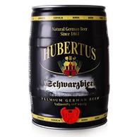 德国进口!3件x5L桶装 Hubertus 狩猎神 黑啤酒