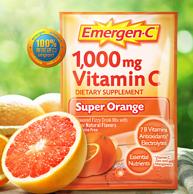 提高免疫力、预防流感:10包 美国 Emergen-C 益满喜 VC 泡腾粉