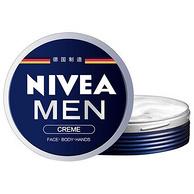 买1送1!NIVEA 妮维雅 男士小蓝罐面霜2瓶x30ml+精华露10ml