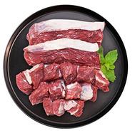 希尔顿、香格里拉供应商!皓月 巴西进口谷饲 牛腩块 7袋x500g+赠品牛脊骨700g+凑单品