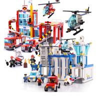 GUDI 古迪 积木拼装玩具 警察总局+消防总局