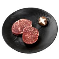 澳洲进口: 200g x10件 天谱乐食 黑毛和牛日式小份牛排