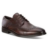 限41-43码:ECCO 爱步 男士 布洛克 德比皮鞋