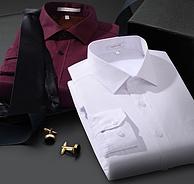 同类出口量国内第一,罗蒙 男士商务 加绒保暖衬衣