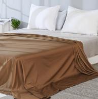 今天结束:网易严选 全棉贡缎纯色床单 245x250cm