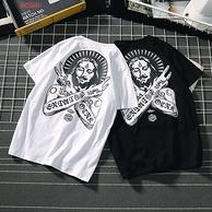 欧度狼 嘻哈风 男士100%纯棉T恤