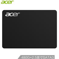 0点:Acer 宏碁 GT500A系列 480G SATA3接口 固态硬盘