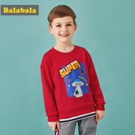 巴拉巴拉 90-130cm 儿童 假两件卫衣