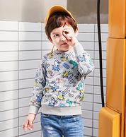 5分好评 正版授权:小猪佩奇 男童圆领纯棉卫衣