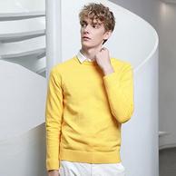 喻纯 男士 纯色 薄款针织衫