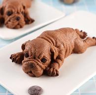 网红小奶狗:壹粒谷仓 小黑狗蛋糕 85g 黑巧克力慕斯蛋糕