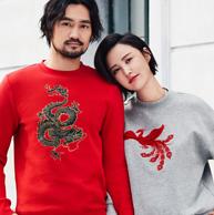 明星同款,H&M 新年系列 情侣款 卫衣