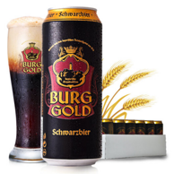 PLUS会员:BURGGOLD 金城堡 黑啤酒 500ml 24听x3件