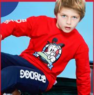 巴布豆 春季纯棉儿童运动套装