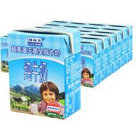 限地区:奥地利原装 绿林贝 UHT全脂纯牛奶200mlX24盒