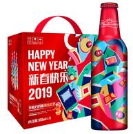限地区:新年限量版铝瓶 百威啤酒 355mlx6瓶x2件