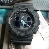 Casio 卡西欧 G-Shock 系列 黑灰色男士运动腕表 GA100C-8ACR