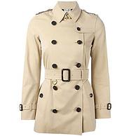 6日0点: BURBERRY 博柏利 女士短款经典风衣外套