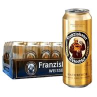 德国进口 Franziskaner 范佳乐 纯麦白啤酒 500mlx24听