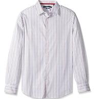 S码:Perry Ellis 男士 长袖 条纹衬衫