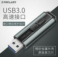 不到0.6元/G 金属材质:Teclast 台电 锋芒 128GB USB3.0 U盘  深空灰