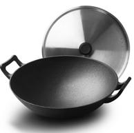炊大皇 32cm 中式双耳 加厚铸铁锅