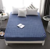 眠度 纯棉色织床笠绗缝床罩 150x200cm