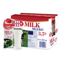 3件x12盒 波兰 Mlekovita 妙可 全脂纯牛奶250ml