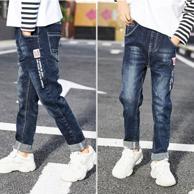 19年新款:小劲羊 男童春季牛仔裤