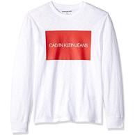 L码:Calvin Klein 男士 纯棉 长袖T恤