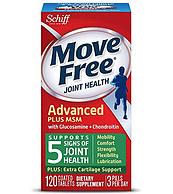 添加MSM,Schiff Move Free 氨糖维骨力软骨素  绿瓶 120粒
