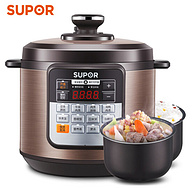大家庭可用,SUPOR苏泊尔 CYSB60YCW10D-110 6升 电压力锅