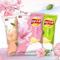 春季新口味,Lay's 樂事 櫻花牛乳+生梅+白桃味65g 各3包
