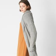C&A 慵懒风 女士 中长款 针织开衫