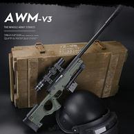 含8倍镜,送500发水弹,怀乐 大号AWM手动版