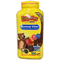 300粒 美国 L'il Critters 丽贵 小熊糖 多种维生素软糖