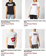 2件!26款可选,Levi's 李维斯 The Perfect 男女短袖T恤