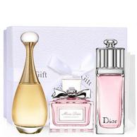 Dior家族人气香水!法国Dior 淡香水三件套礼盒装