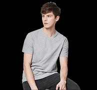 100%精梳棉:网易严选 男式V领短袖T恤