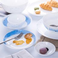 Luminarc 乐美雅 钢化玻璃碗碟套装 8件套 星空款 券后45.9元包邮