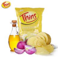 澳大利亚原装进口 Thins纤味 土豆片 175g 乳酪洋葱味