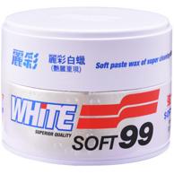 日本 SOFT99 丽彩 白车专用 车蜡350g