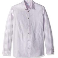 M码:Calvin Klein 男士 条纹 长袖衬衫