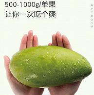 比臉還大!單果500-1000g,以稀 越南大青芒 凈重8斤 38.8元包郵(之前推薦46.8元)