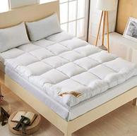 厚10cm、重3.4kg:90x200cm Xanlenss 轩蓝仕 纯色加厚立体羽丝绒床垫